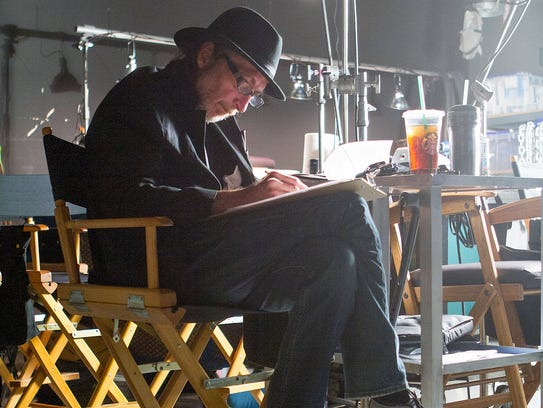 """Frank Miller on the set of the motion picture """"Sin"""