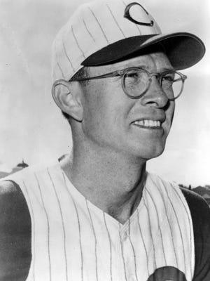 Roy McMillan, Cincinnati Reds, in May of 1969.