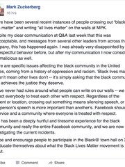 Mark Zuckerberg post obtained by Gizmodo.