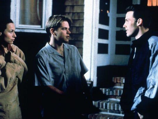 Minnie Driver (from left), Matt Damon and Ben Affleck
