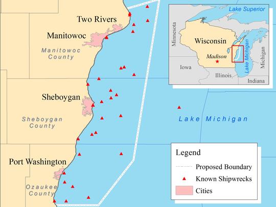 Proposed Lake Michigan National Marine Sanctuary.
