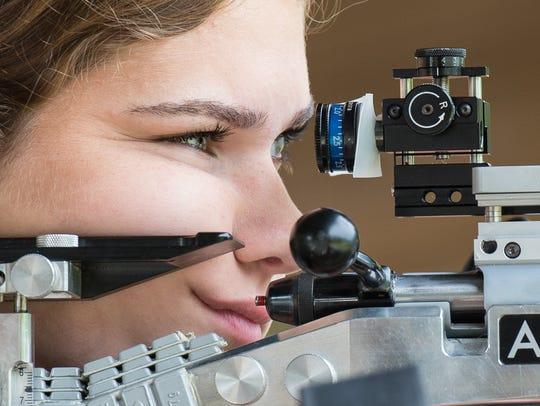 Competitive shooter Morgan Phillips, 17, of Salisbury