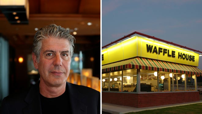 Image result for anthony bourdain waffle house