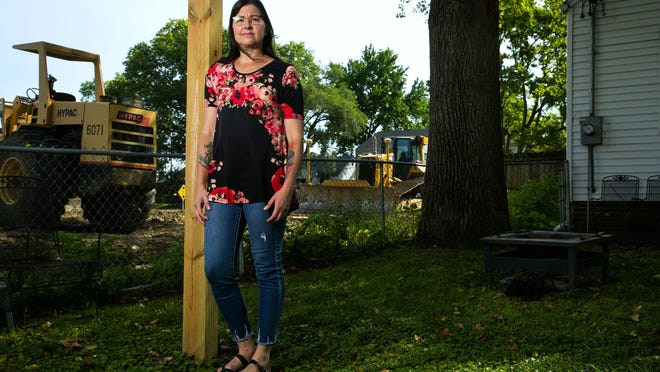 The heavy construction of the rail improvement project happening adjacent to her property on South Sixth Street in Springfield, Illl., has taken a toll on Brandi Tolley's home and her family.