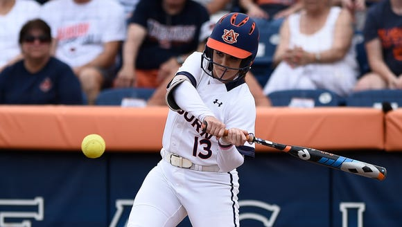 Auburn senior Kasey Cooper  is the SEC's all-time leader