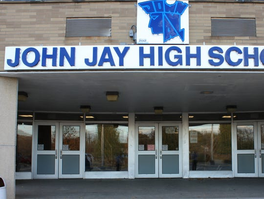 The entrance of John Jay High School in the Wappingers