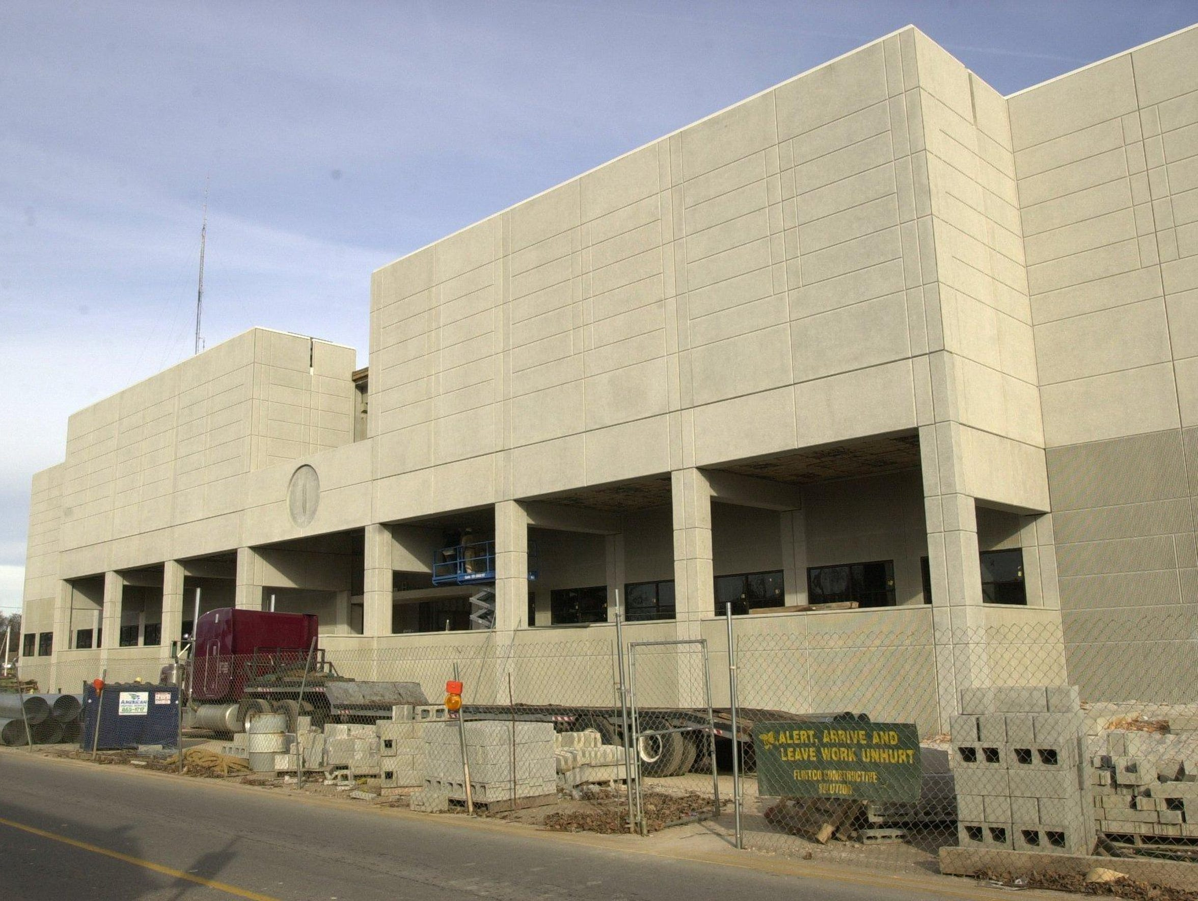 The current jail is under construction in 2000. It