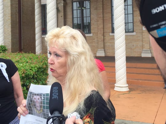 Animal activist Bobbie Henderson of Fort Myers at Tuesday's press conference