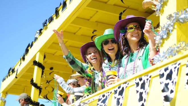 The Caerus Mardi Gras parade is set for Saturday.