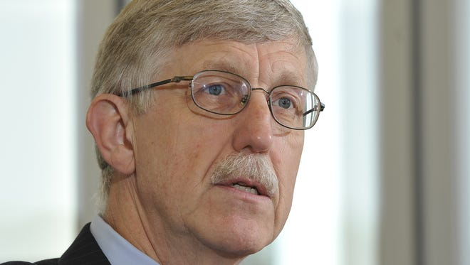 Francis Collins, director of the National Institutes of Health, talks at an editorial board meeting at USA TODAY.