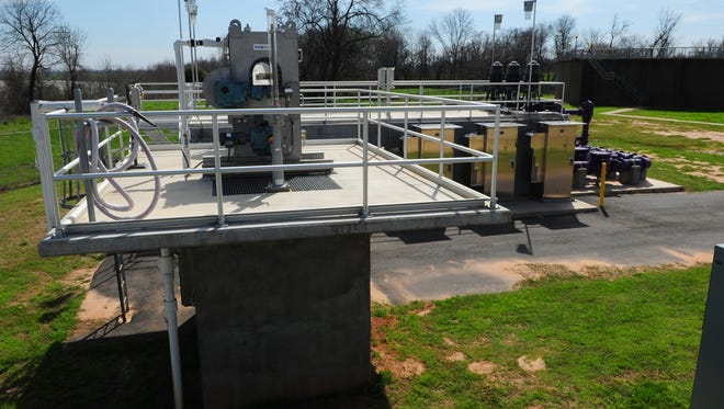 A pump station at the Lucas Wastewater Treatment Plant