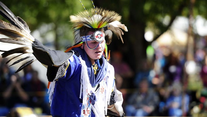 File photo: Jacob Gober, of Atlanta performs an Eagle Dance at the Fall Festival and Pow-Wow at Long Hunter State Park, near Nashville, Tenn. in 2011.