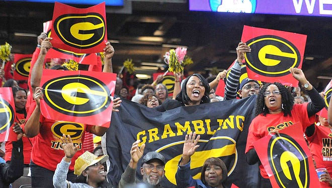 Grambling fans cheer at the Bayou Classic in November. The Tigers' program has parlayed success on the field into recruiting.
