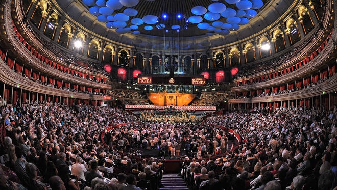 The audience of more than 5,000 in Royal Albert Hall, London, during the BBC Proms.