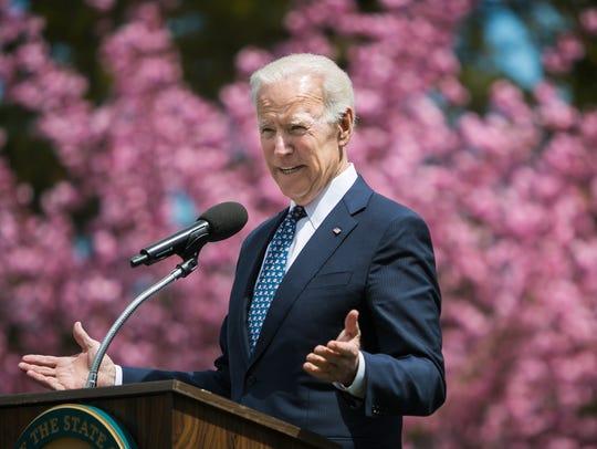 Joe Biden speaks at the Biden Institute on the campus