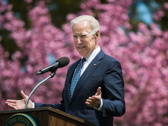 Joe Biden speaks at the Biden Institute on the campus of the University of Delaware in March 2018.