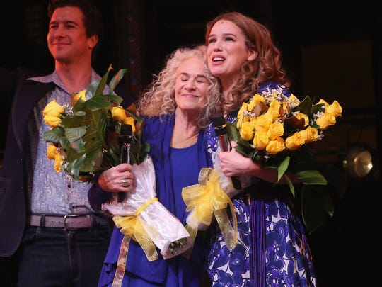 "Carole King and Chilina Kennedy as ""Carole King"" at"