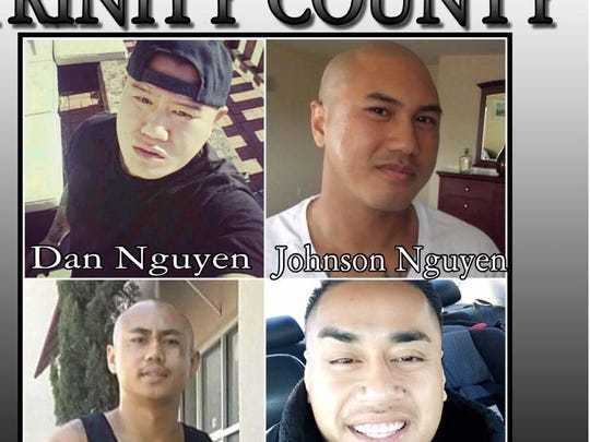 Four men are missing and were last seen in Trinity County.