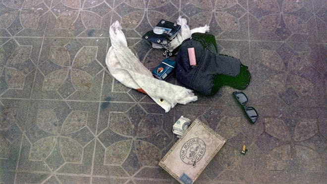 Items found at the scene of Kurt Cobain's suicide, in Seattle, April 1994. The image has never before been released.