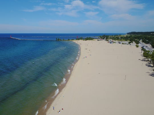 Pere Marquette Beach In Muskegon Michigan