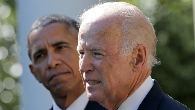 Biden announces he won't run for president on October 21, 2015 in Washington, DC.
