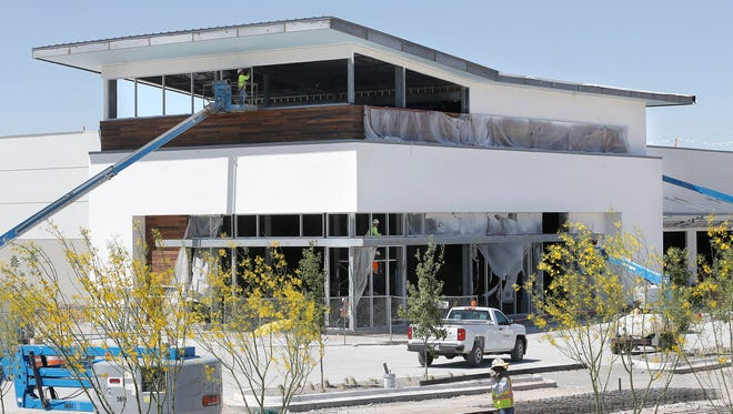 El Paso's first Whole Foods Market is under construction at Mesa and Pitt in West El Paso, near an Albertsons supermarket.