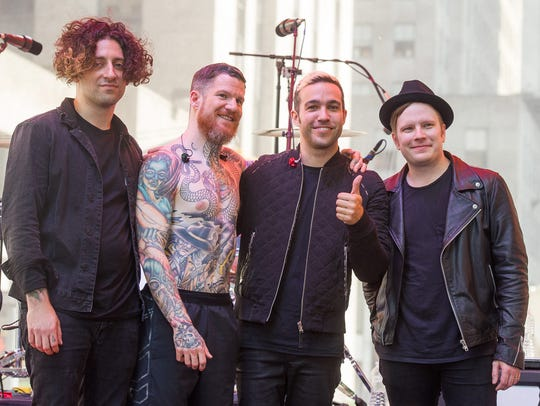 FILE - In this June 12, 2015 file photo, Fall Out Boy