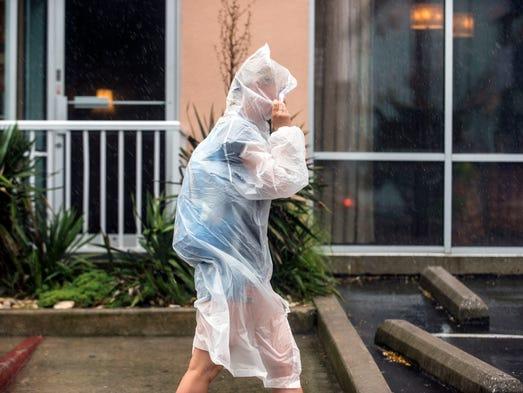 Hurricane Arthur brings sheets of rain in Ocean City July 4, 2014.