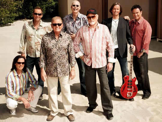 The legendary singing group The Beach Boys perform