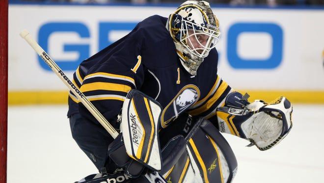 Buffalo Sabres goalie Jhonas Enroth has spent the past three seasons as Ryan Miller's backup.