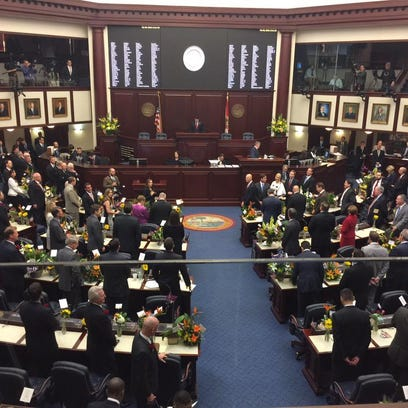 Lawmakers inside the Florida Capitol.