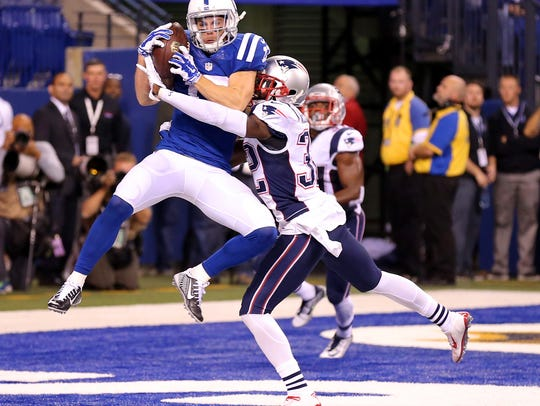 Indianapolis Colts wide receiver Griff Whalen (17)