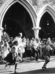Hundreds of children run through Sleeping Beauty Castle