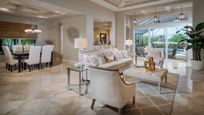 Bonita Lakes is offering its final home, a 2,572-square-foot Salerno Chateau like the one shown, for immediate move-in.