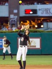 Florida State sophomore shortstop Cali Harrod (10)