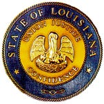 State Seal of Louisiana.