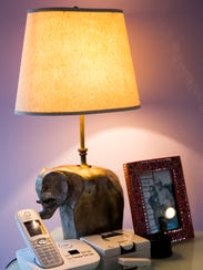 An elephant lamp on professional organizer Marla Ottenstein's