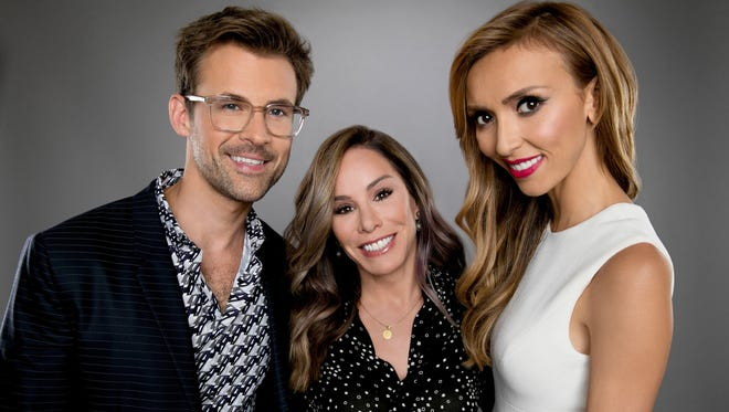 "Brad Goreski, Melissa Rivers and Giuliana Rancic from ""Fashion Police."""