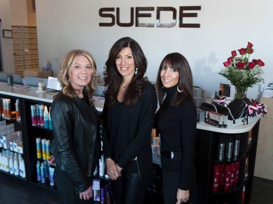 Nancy Rooney, Lisa Verdecchio and Kim Carusillo co-own Suede Salon Spa and Body in Marlton.
