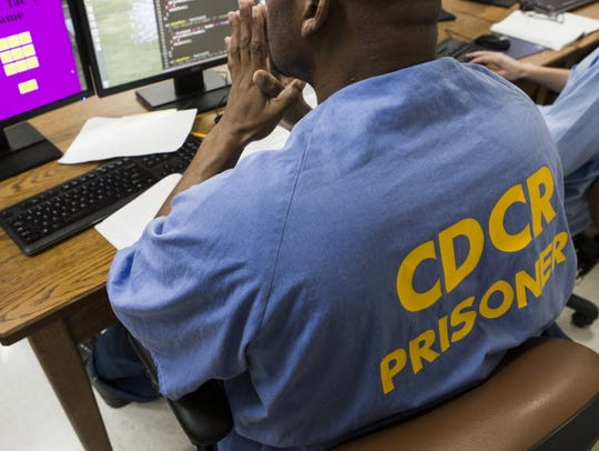 Inmates learn to code in a program at San Quentin prison