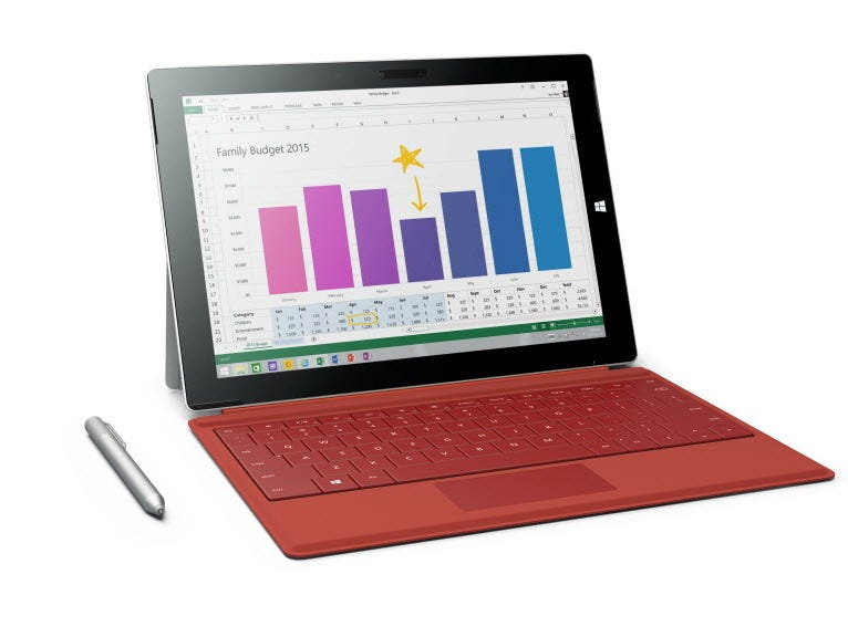Microsoft's Surface tablet racked up $1.1 billion in sales last quarter, a bright spot for the company in transition.