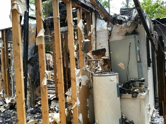 The fire that gutted a house in Titusville early Thursday is under investigation.