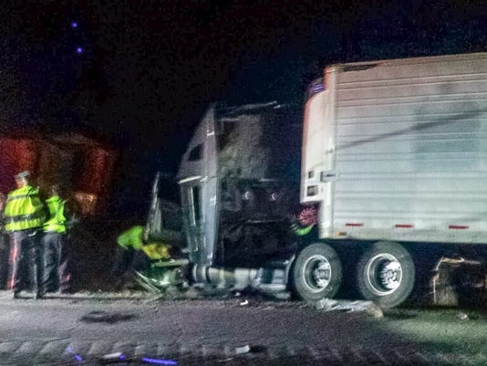 Semitrailer crash