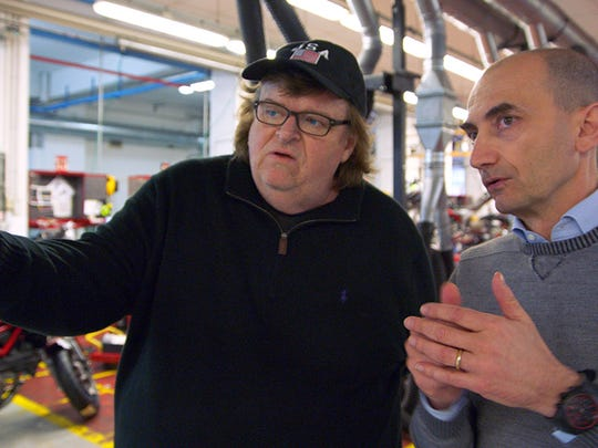 """In """"Where to Invade Next,"""" Claudio Domenicali, CEO of Italian motorcycle manufacturer Ducati, tells Michael Moore that profits and worker well-being are compatible."""