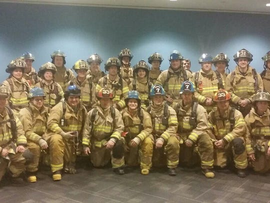 The Brighton Fire team participating in the American