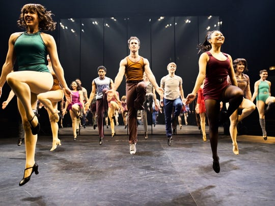 """Members of the company dance in Stratford Festival's production of """"A Chorus Line."""""""