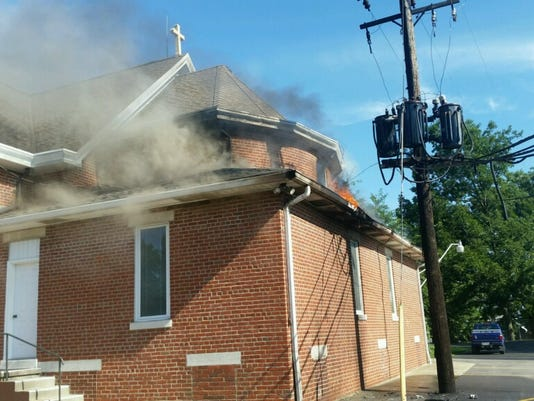 Posey County church fire
