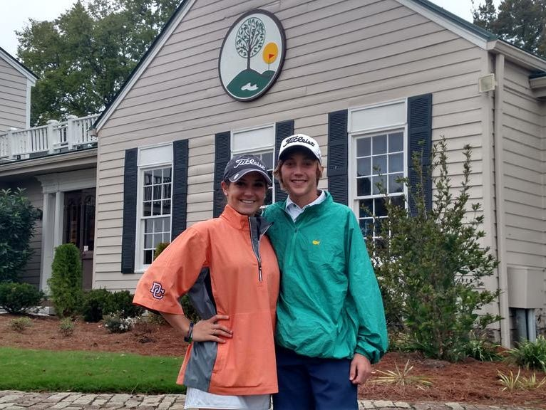 Annie Garrett, left, and Ty Beasley both qualified for the region tournament next week at Greystone.