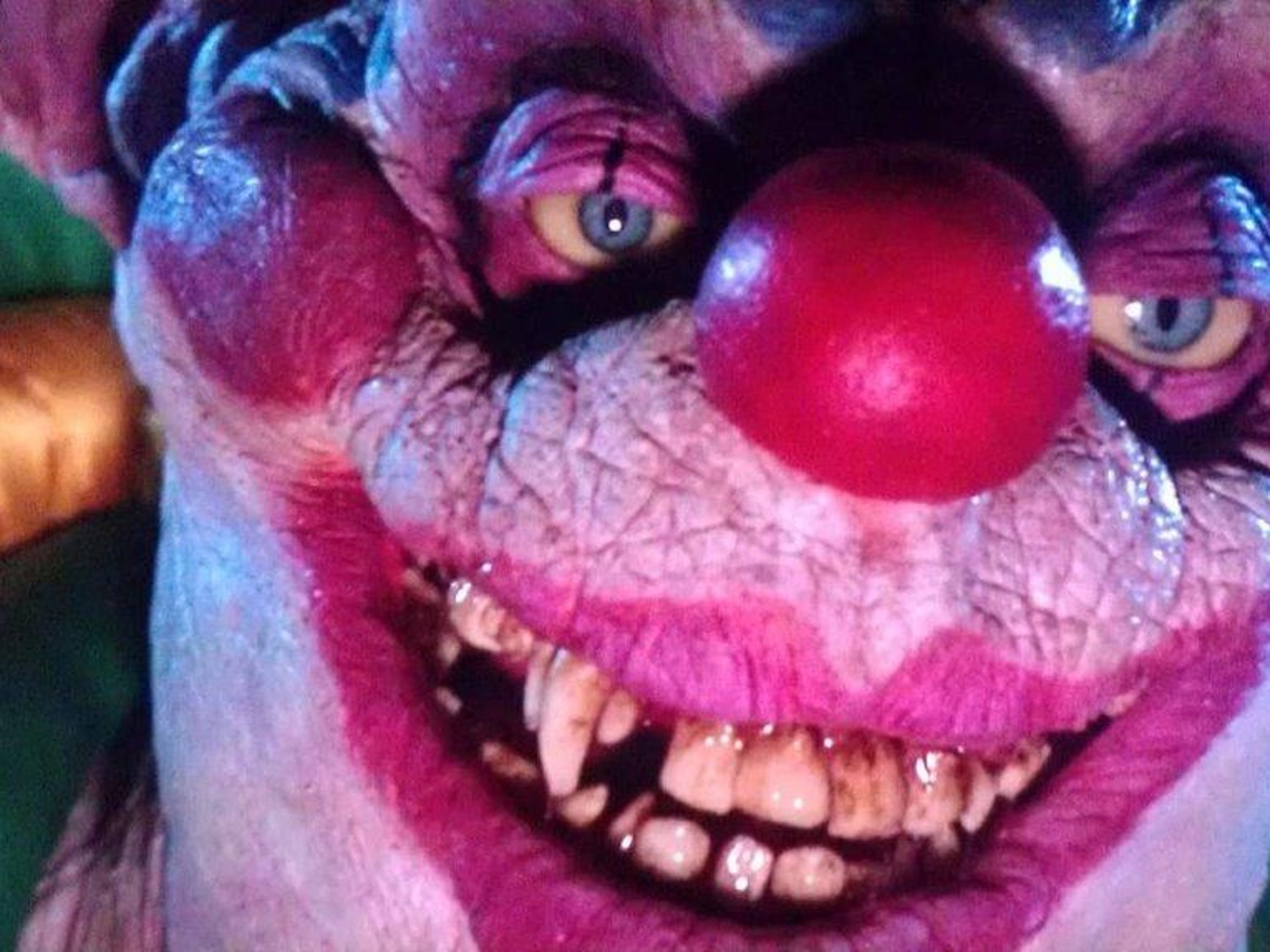 "The ""Killer Klowns from Outer Space"" were real (onscreen)."