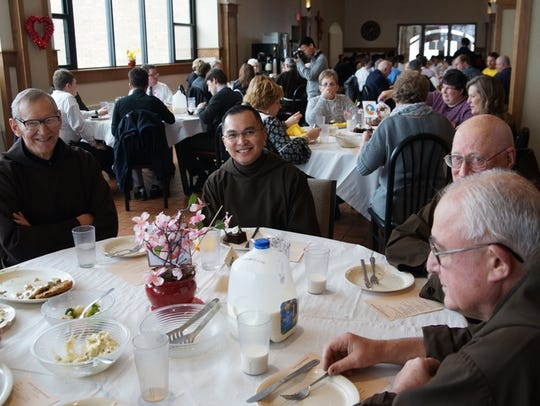 St. Lawrence Seminary students, staff and faculty gathered